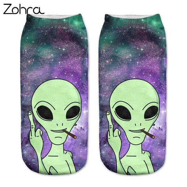 Alien Ankle Socks (Unisex)