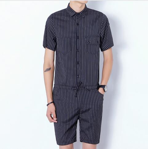 Romper For Men (Blue / Black)