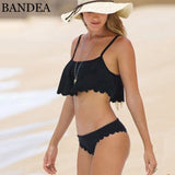 Bikini Set Sexy Bandeau Bathing Suit Push Up Swimwear