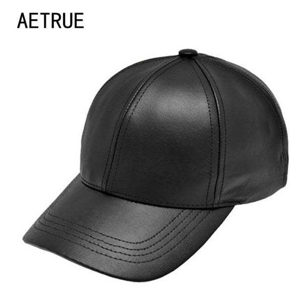 Baseball Cap Women Leather Snapback Caps
