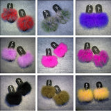 Fur Furry Slide Flip Flops Women Home Slippers