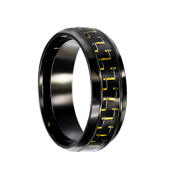 High Quality Weave Carbon Fiber Men Ring
