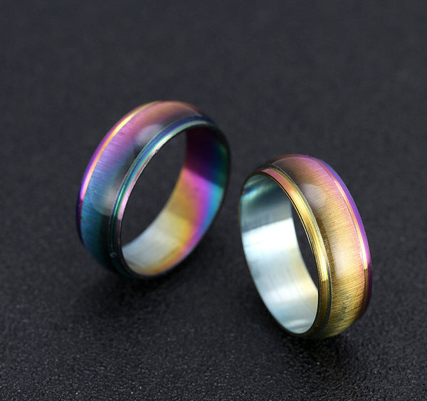 Stainless Ring Color Mood Rings