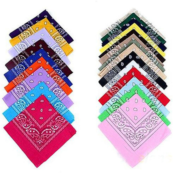 Multi Color Bandana (Unisex) 100% Cotton