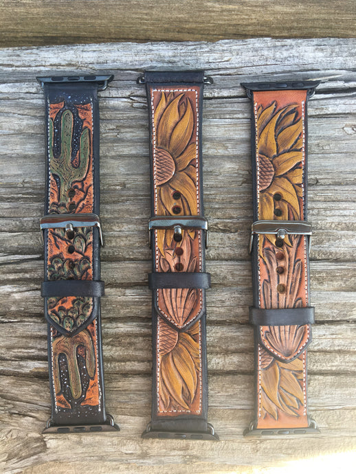 Women's Tooled Apple Watch Bands