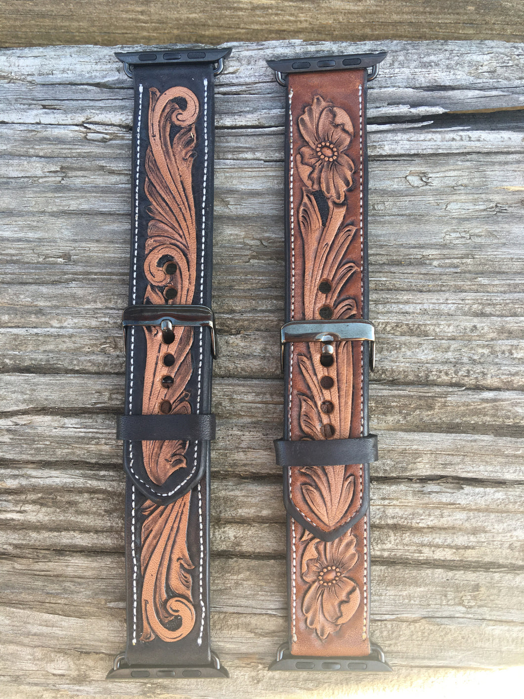 Men's Tooled Apple Watch Bands