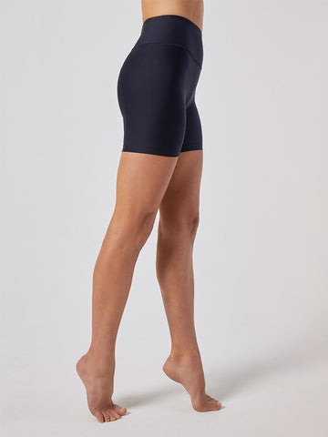WATER High-Waist Biker Shorts -- Midnight Blue