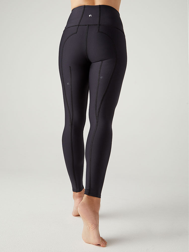 WATER High-Waisted 7/8 Leggings -- Black (LUXE)
