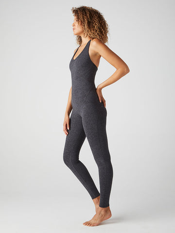 WOOD Ojai Oak Onesie -- Charcoal Gray Spacedye