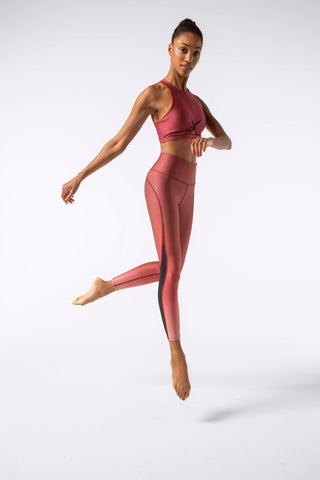 Flame 7/8 Leggings -- Red Ombre