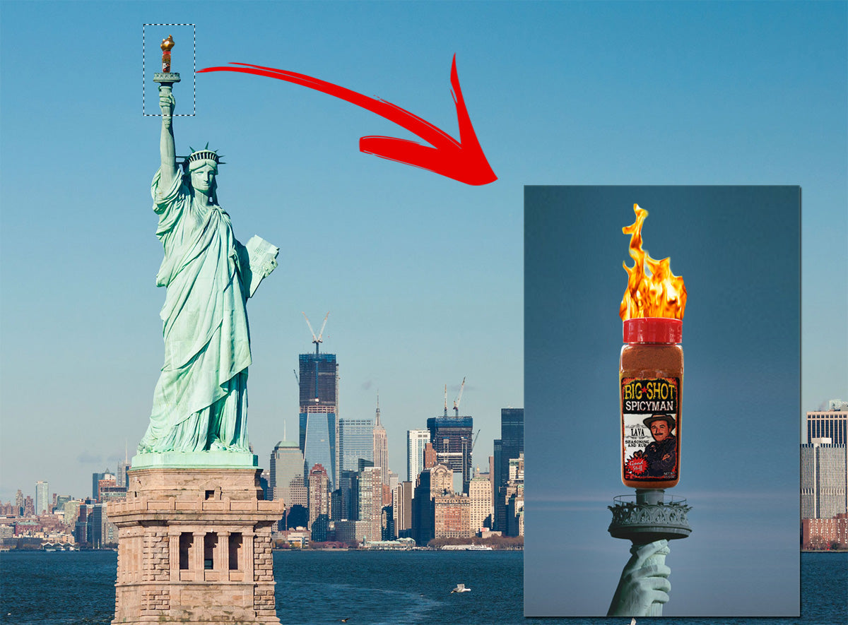 We light the flame of Liberty, yeah really!