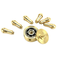 Pirate Ship Wheel Detachable Arms Brass Fidget Spinner
