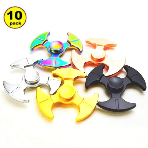 Wholesale Lot 10x Sickle Shaped Tri-Spinner Fidget Spinner Hand Spinner