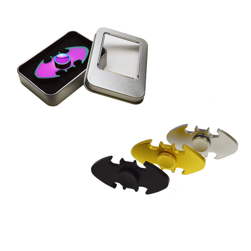 Metal Bat Fidget Spinner Silver Gold Black Rainbow Clearance