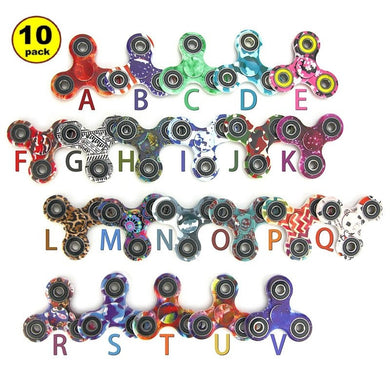 Wholesale Lot 10x Camouflage Random Fidget Hand Spinner Finger Game Desk Kids Fun Toy