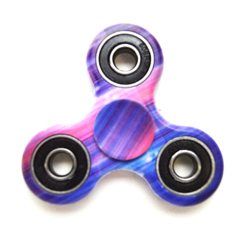 Fidget Spinner Tri-Spinner - Blue Pink (clearance)