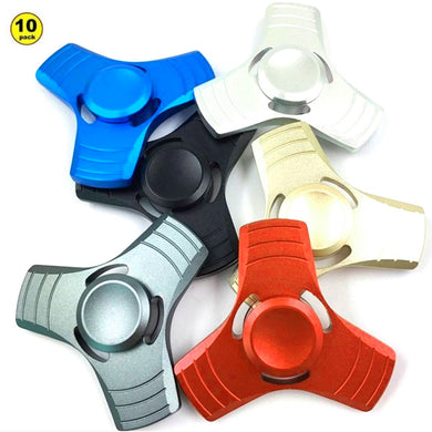 Wholesale Lot 10X Aluminum Tri-Arm Fidget Spinner