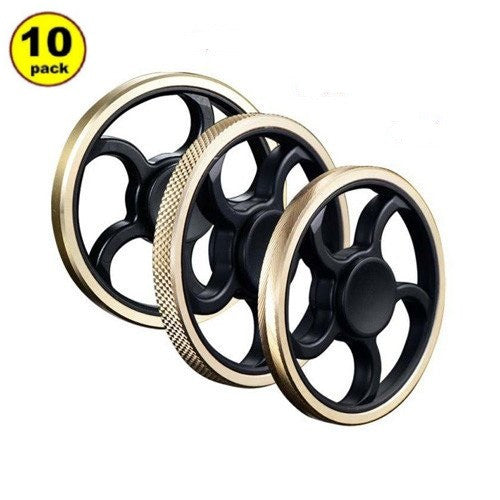 Wholesale Lot 10x Steering Wheel Round Circular Spiral Fidget Hand Finger Spinners