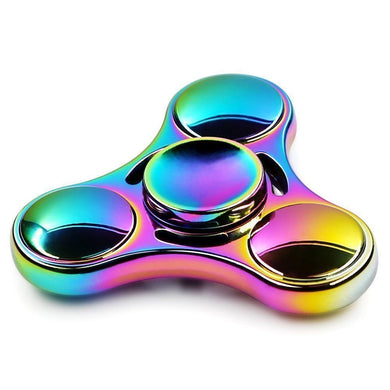 Fidget Spinner - Rainbow Colored Tri-Spinner (clearance)