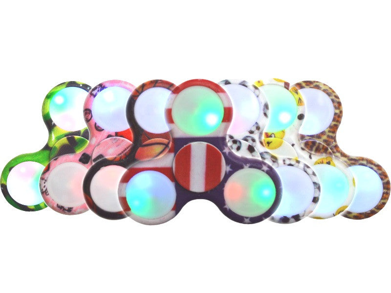 Camo LED Light Up Hand Finger Spinner Fidget Plastic EDC Hand Spinner For Autism (clearance)
