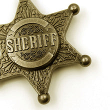 Sheriff Badge Style Copper Brass Hand Spinners (clearance)