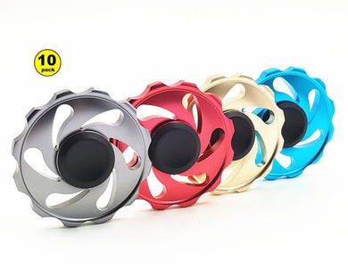 Wholesale Lot 10x Round Wheel Colored Fidget Spinner