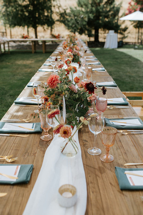 rustic table setting maine