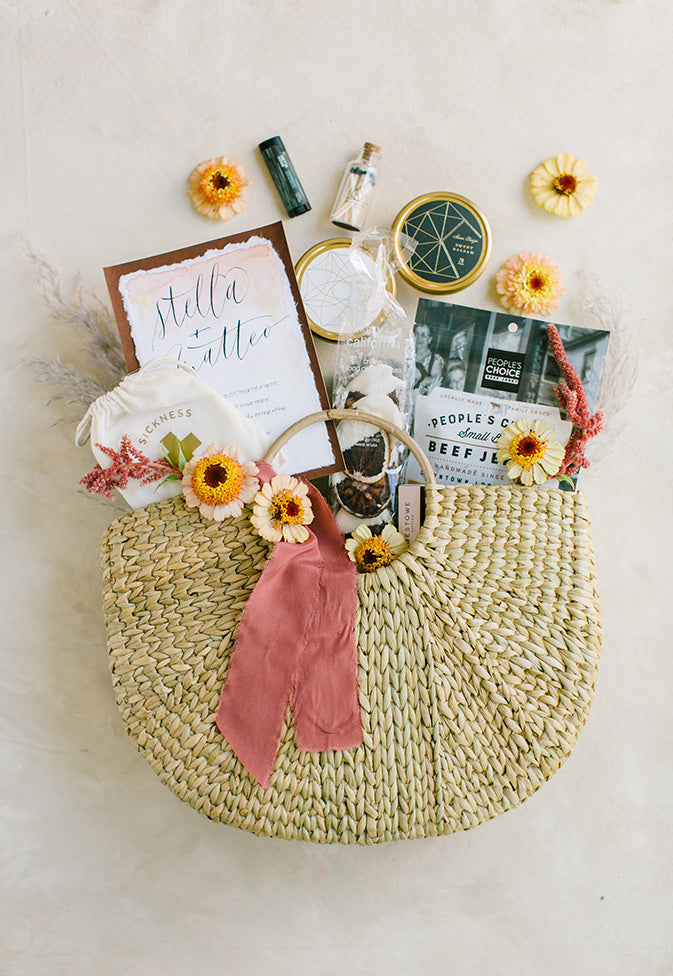 desert inspired wedding welcome gifts