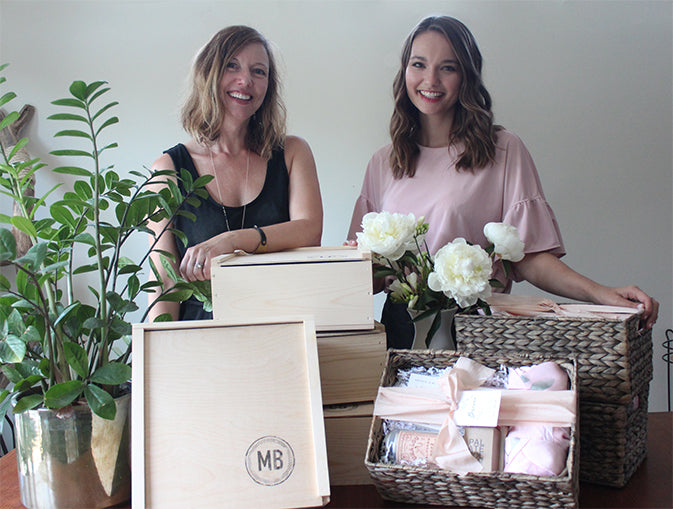 bridal party gifts Hannah payne and catherine weis