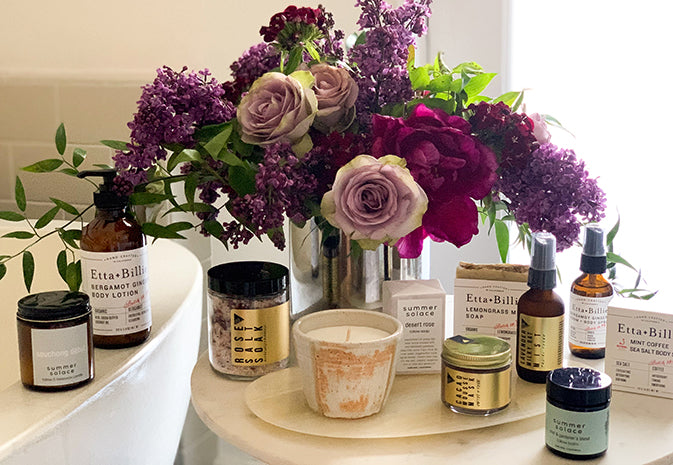 Flowers and Bath Products for Mother's Day