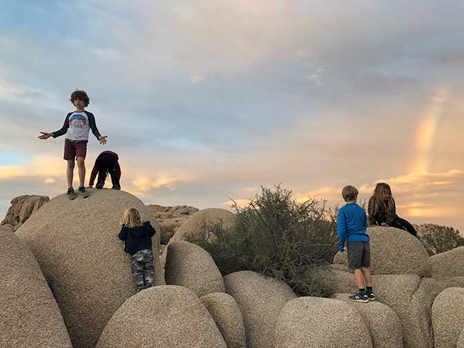 Joshua Tree Jumbo Rocks Car Camping