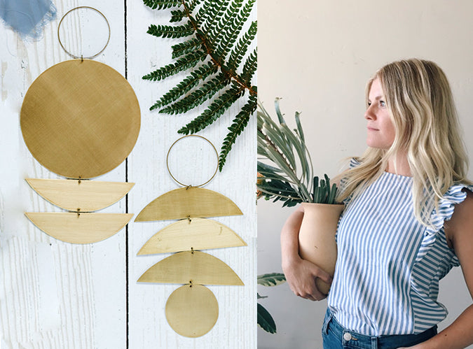 Sarah Perez ARtist Interview Brass Hanging