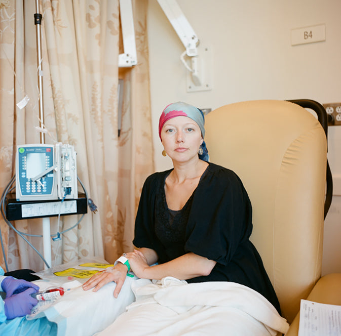 cancer patient in treatment with IV
