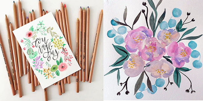 calligraphy and watercolor for weddings