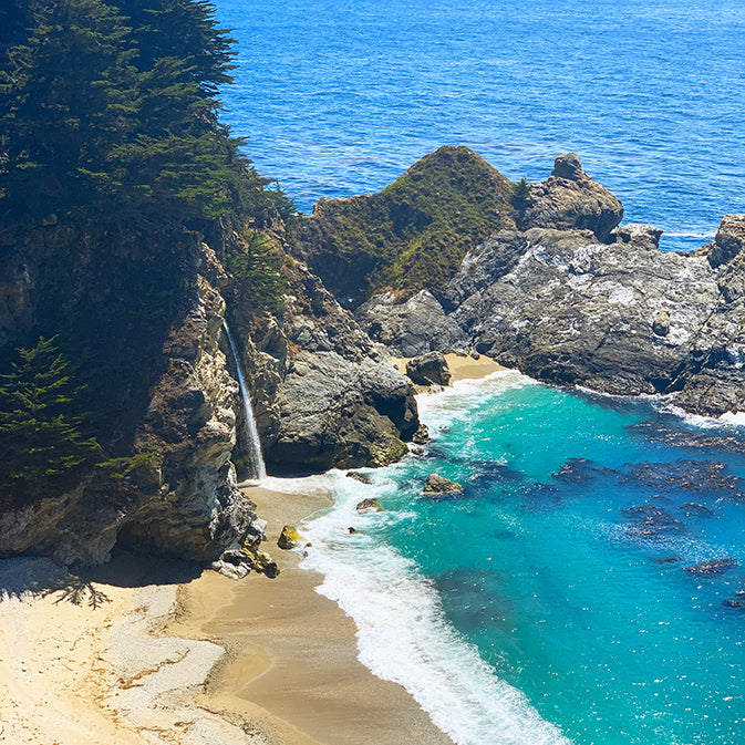 pfieffer big sur state waterfall and beaches