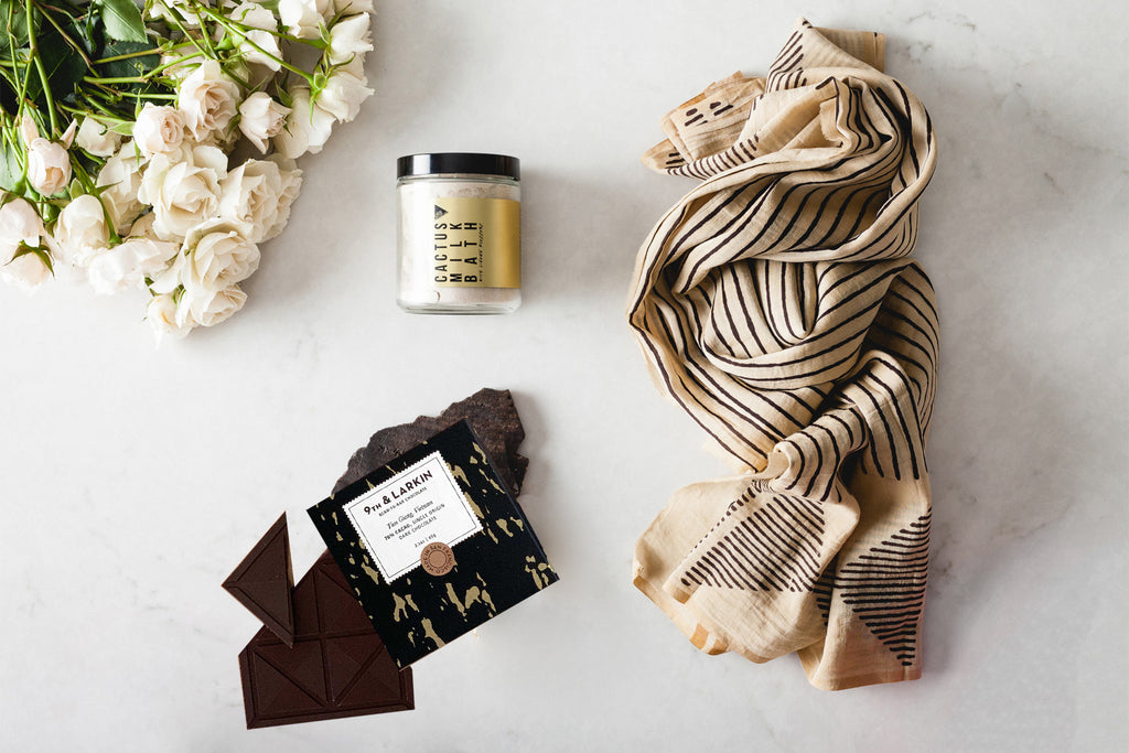 To Be Loved: Block Printed Scarf Gift Set
