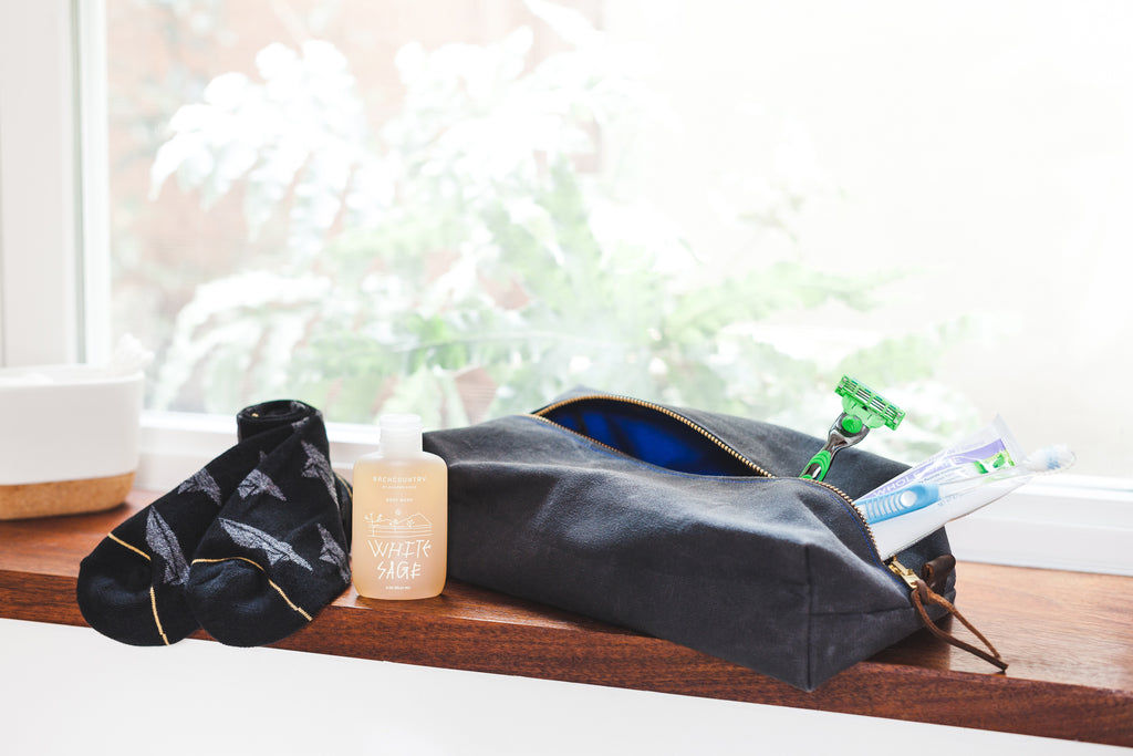 Canvas Toiletry Dopp Kit