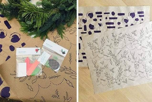 Holiday Gift Wrapping And Gift Tags Plus Free Download!