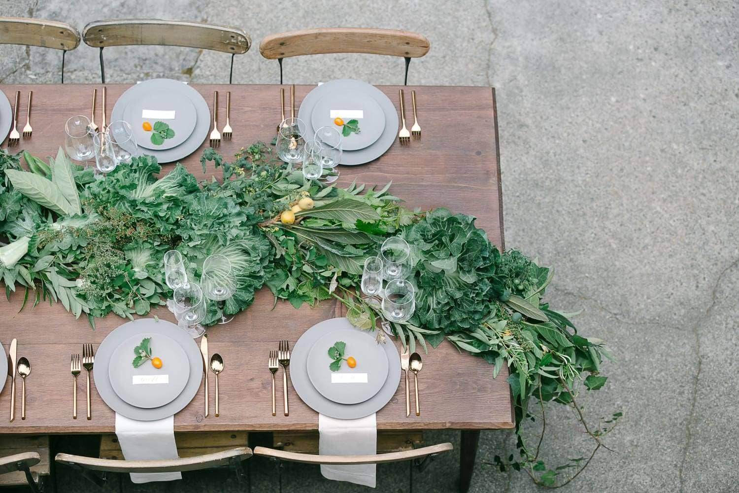 Tablescape garland wedding planner Julie Cahill photography entertain