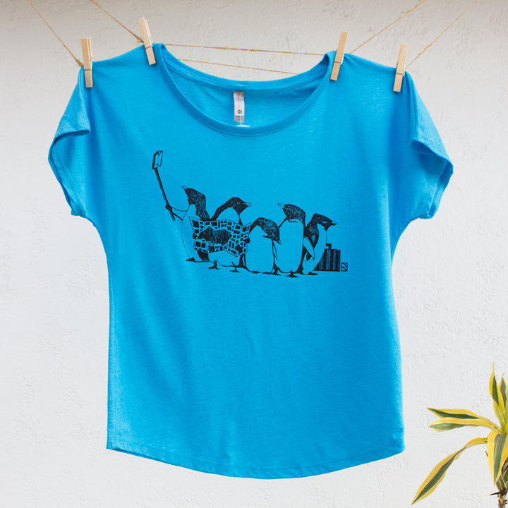 Penguins:  Women's Tri-Blend Dolman