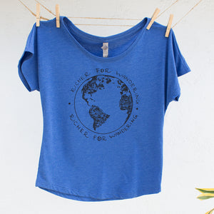 Traveling Globe Richer for Wandering Tshirt Design