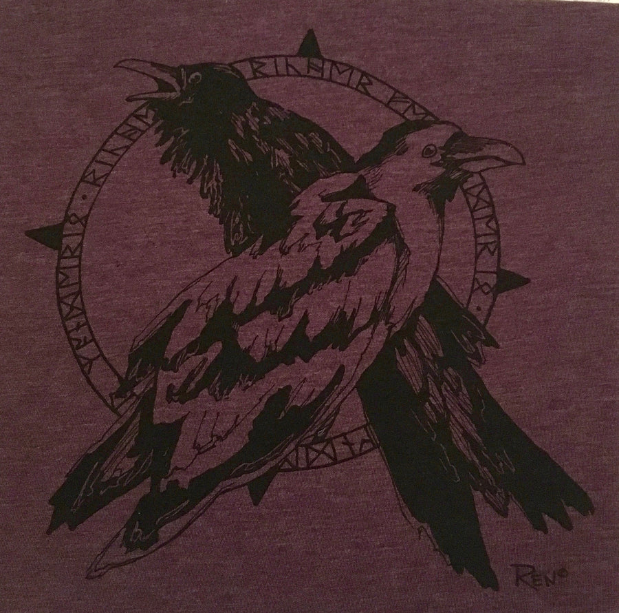 Odin's Ravens Norse Mythology Tshirt Design