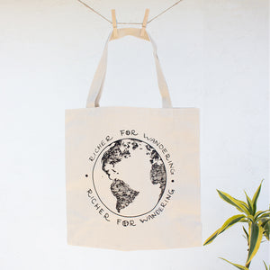 Penguins Lost in New Zealand  | Globe Canvas Tote
