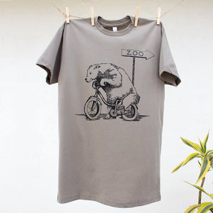 Bear Riding on Bike Tshirt Design