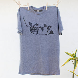 Penguins:  Unisex Crew Neck T-Shirt
