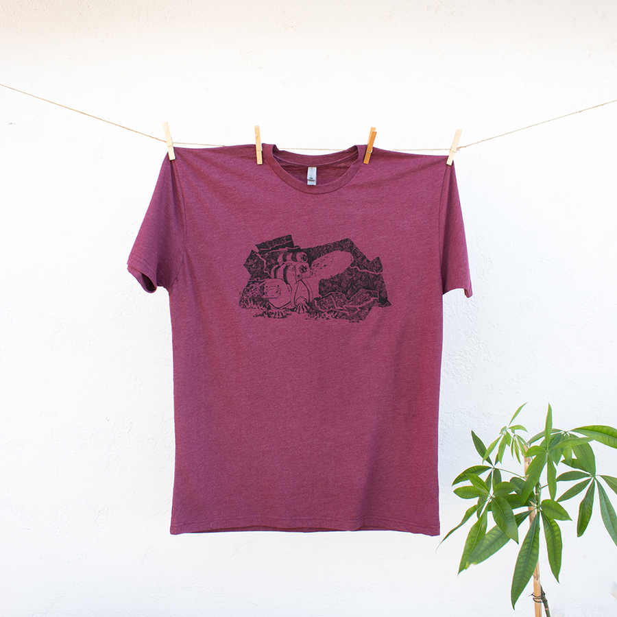 Hiking Platypus on a Walkabout Tshirt Design