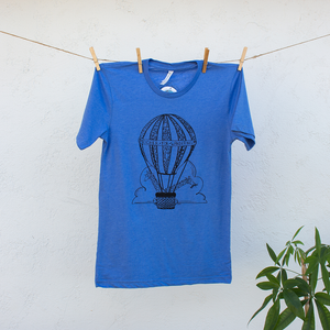 Giraffes in Hot Air Balloon Richer for Wandering Tshirt Design