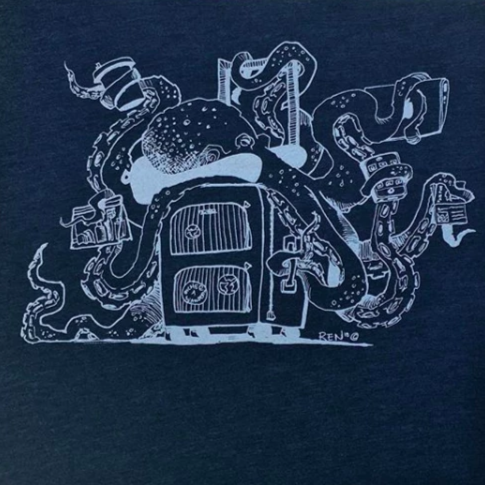 Octopus Travel TSA Tshirt Design