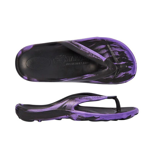 Starfish Orthotic Thongs - Black/Purple - Aussie Soles
