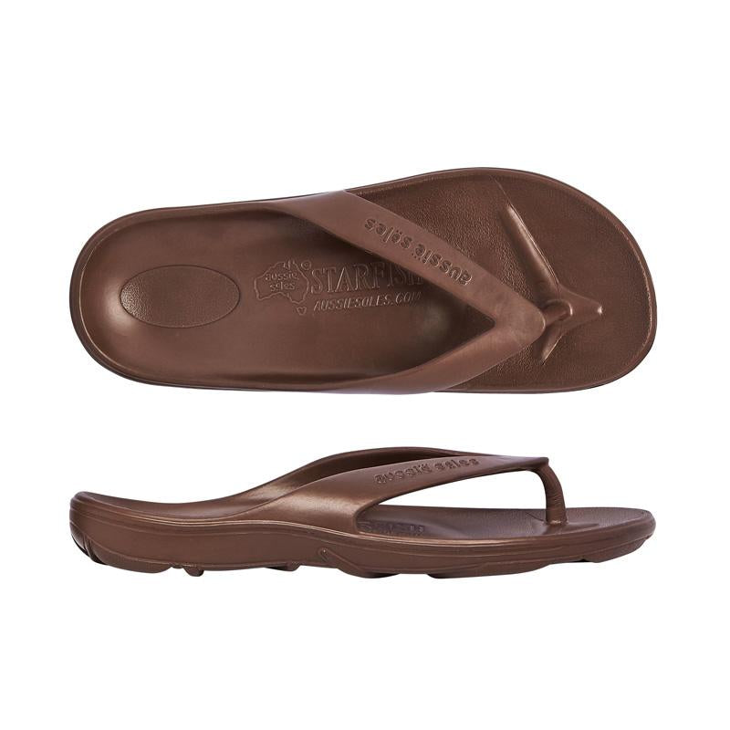 Starfish Orthotic Thongs - Chocolate - Aussie Soles